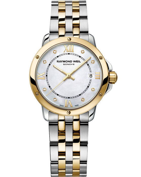 RAYMOND WEIL Geneve Tango Diamonds Two Tone Stainless Steel Bracelet