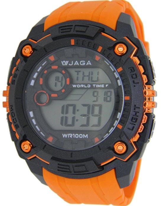 Ρολόι JAGA Chrono Orange Rubber Strap - M1051 - OROLOI.gr cbaf6b26367