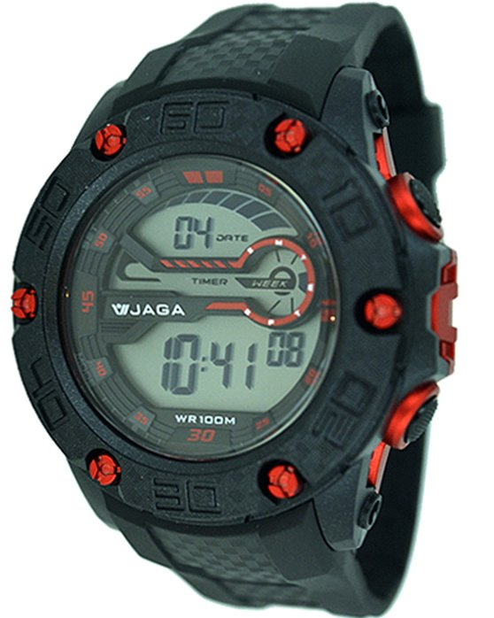 Ρολόι JAGA Chrono Black Rubber Strap - M1092 - OROLOI.gr 1a236c02f1b