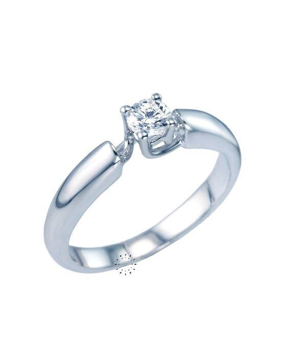 Ρολόι Μονόπετρο Δαχτυλίδι 18Κ Λευκόχρυσο με Διαμάντι της PRECIEUX ... 5385261e846