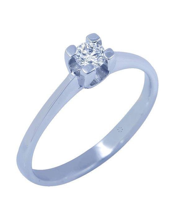 Ρολόι Μονόπετρο Δαχτυλίδι 18Κ Λευκόχρυσο με Διαμάντι - 013DA3106L ... ea22a254aaf