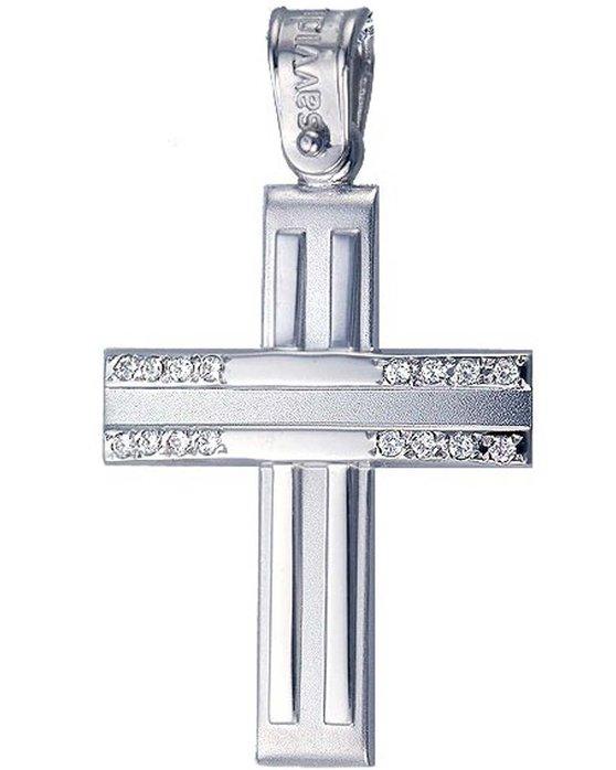 Ρολόι Cross 14ct White Gold with zircon SAVVIDIS - ST24587 - OROLOI.gr 6e61578f027