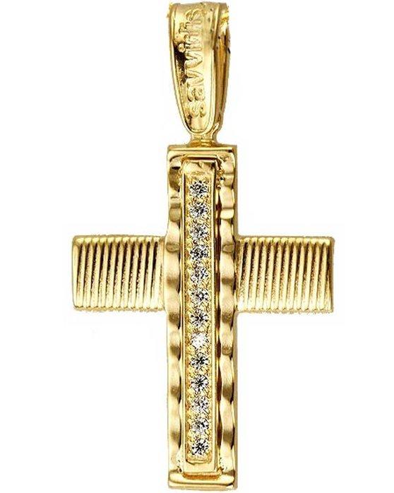 Ρολόι Cross 14ct Gold with zircon SAVVIDIS - ST24725 - OROLOI.gr 9f29e22c43c