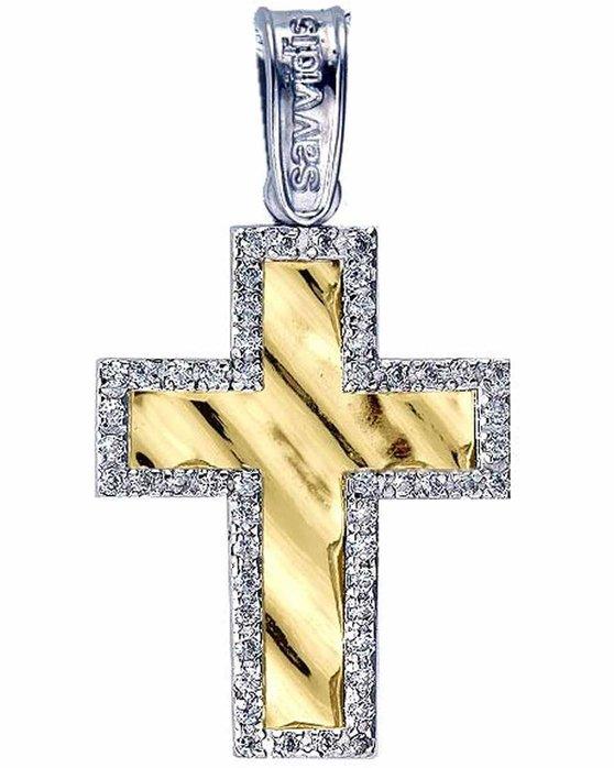 Ρολόι Cross 14ct White Gold and Gold with zircon SAVVIDIS - ST24723 -  OROLOI.gr 4fa1fae59a1