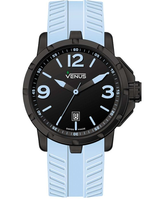 VENUS Chroma Small Cyan Rubber Strap