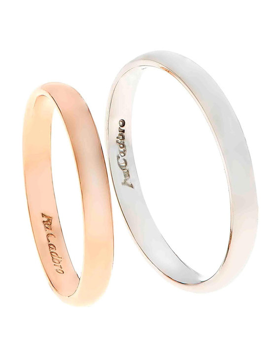 6d5f2cd693 Ρολόι Wedding rings 14ct Rose Gold and Whitegold by FaCaDoro - 004VE45AGK14  - OROLOI.gr