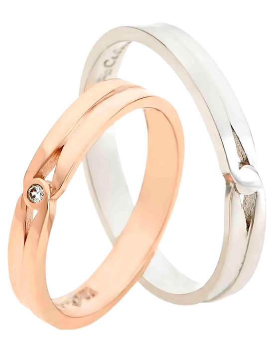 4ece7856e0 Ρολόι Wedding rings 18 Carats Rose Gold and Whitegold With Diamonds by  FaCaDoro - 004VE61AGK18 - OROLOI.gr