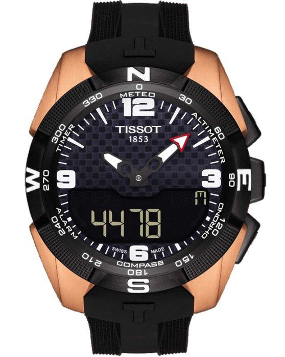 Ρολόι TISSOT T-Touch Expert Solar NBA Rose Gold Black Rubber Strap -  T0914204720700 - OROLOI.gr 1794a5eb28a