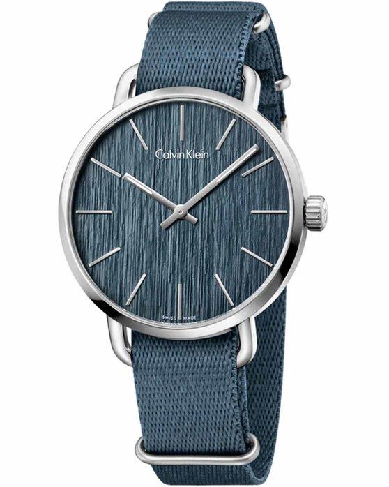 Ρολόι Calvin Klein Even Blue Fabric Strap - K7B211WL - OROLOI.gr 8604cbd33d9