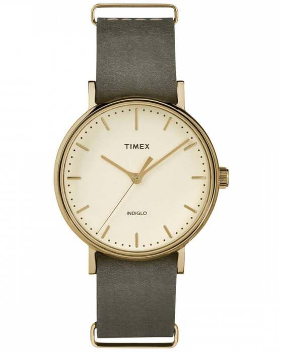 TIMEX Weekender Grey Leather Strap