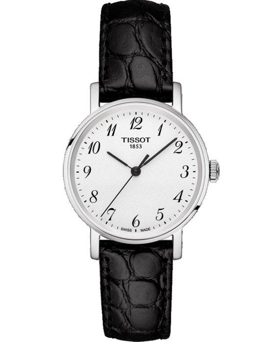 Ρολόι TISSOT T-Lady Everytime Lady Black Leather Strap ... da3f6b59ffd