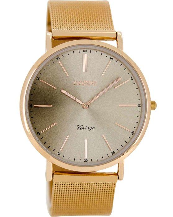 Ρολόι OOZOO Τimepieces Vintage Rose Gold Metalic Bracelet - C8160 ... 478c15c06bb