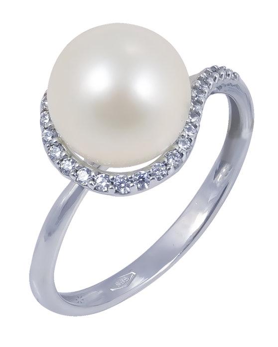 Ρολόι Ring in 14ct White Gold with Pearl SAVVIDIS - 3435bl7005 - OROLOI.gr 936e22baf8e