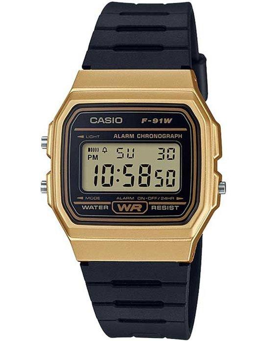 Ρολόι CASIO Collection Digital Black Rubber Strap - F-91WM-9AEF ... b78628ad716