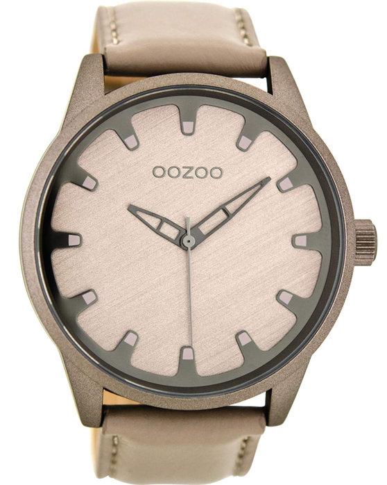 Ρολόι OOZOO Timepieces Beige Leather Strap - C8546 - OROLOI.gr c06be2cb207