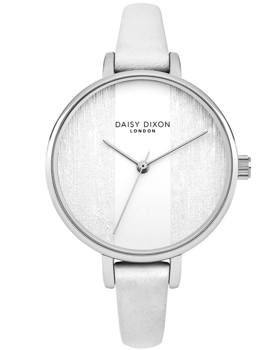 DAISY DIXON Simone White Leather Strap