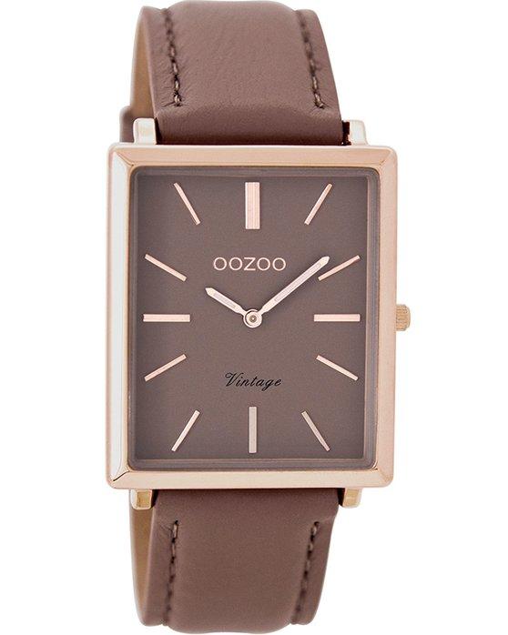 Ρολόι OOZOO Vintage Brown Leather Strap - C8187 - OROLOI.gr 3a812822de3