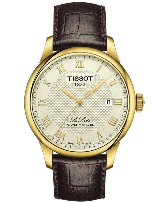 Ρολόι TISSOT T-Classic Le Locle Automatic Brown Leather Strap ... 4b0f1eff5bc