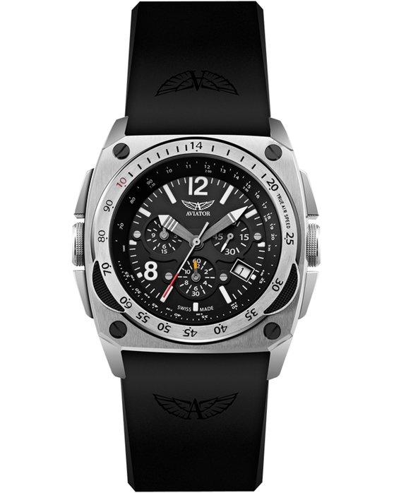 Ρολόι AVIATOR MIG-29 COCKPIT Chronograph Black Rubber Strap -  M.2.04.0.009.6 - OROLOI.gr 34cc37de2a9