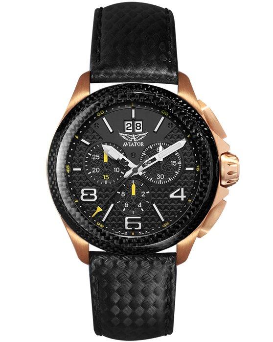 Ρολόι AVIATOR MIG 35 Chronograph Black Carbon Strap - M.2.19.6.144.4 -  OROLOI.gr 44926ee1e90