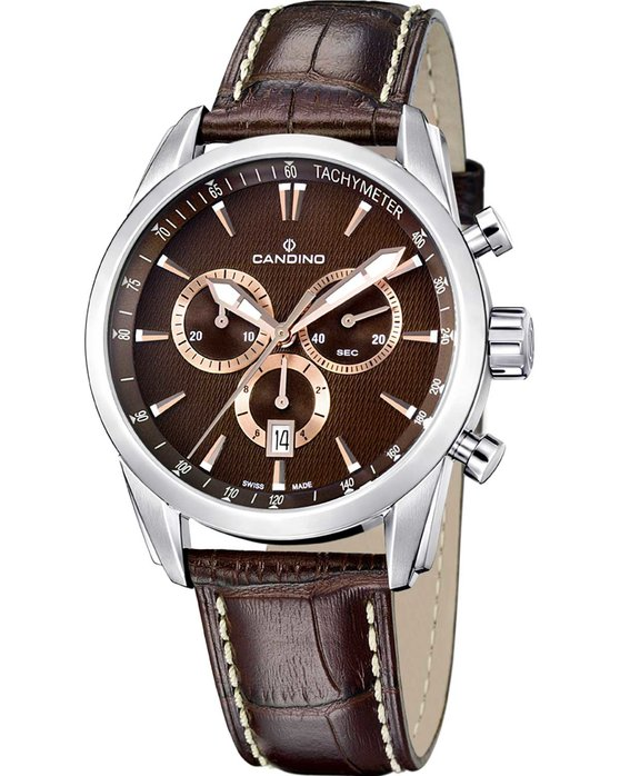 Ρολόι CANDINO Men s Chronograph Brown Leather Strap - C4408 2 - OROLOI.gr 49f466364ef
