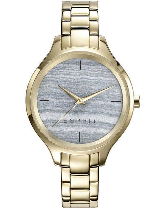 Ρολόι ESPRIT Ladies Gold Stainless Steel Bracelet - ES109602003 - OROLOI.gr b073fe92ef4