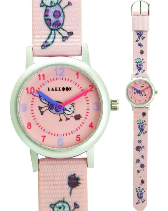 BALLOON Girls Pink Fabric Strap