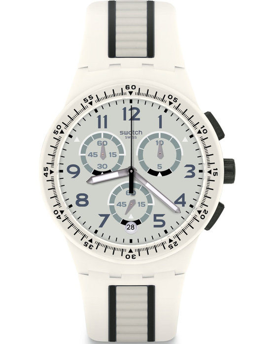 SWATCH POP Escalator Chronograph Two Tone Silicone Strap