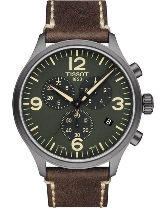Ρολόι TISSOT Chrono XL Brown Leather Strap - T1166173609700 - OROLOI.gr 028f587f9fd