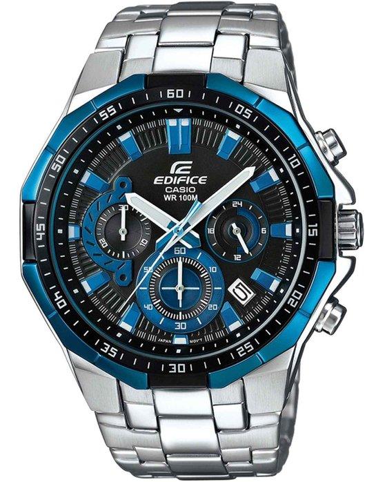 Ρολόι CASIO Edifice Chronograph Silver Stainless Steel Bracelet -  EFR-554D-1A2VUEF - OROLOI.gr 5180419b6ff