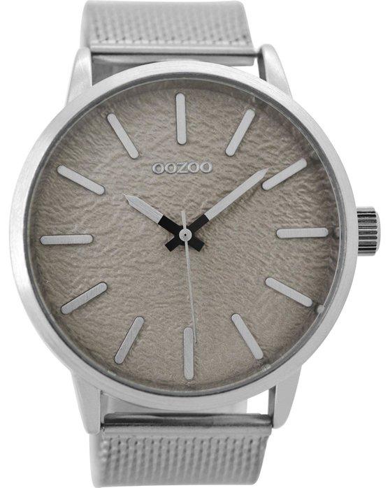 Ρολόι OOZOO Timepieces Silver Metallic Bracelet 48mm - C9230 - OROLOI.gr c0dde455f24