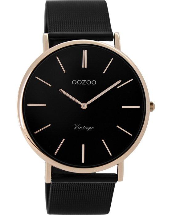 Ρολόι OOZOO Vintage Black Metallic Bracelet 44mm - C8868 - OROLOI.gr 44b8d717f51