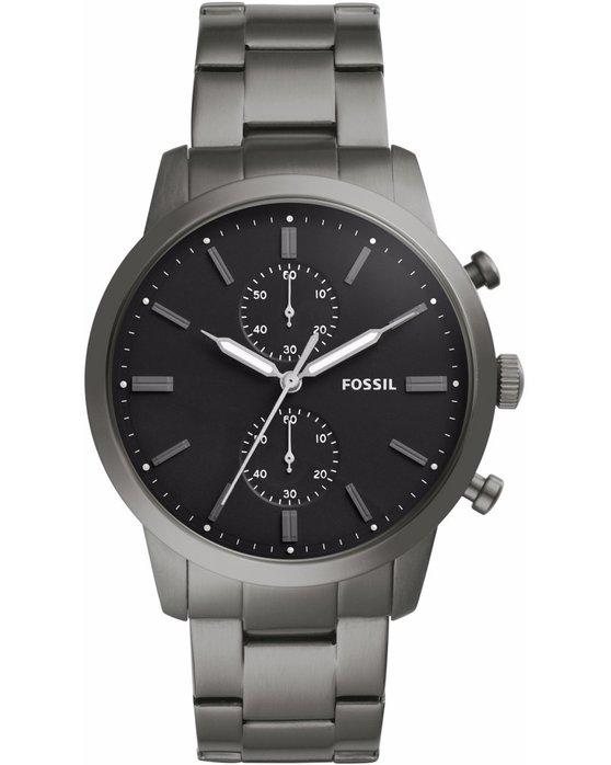 Ρολόι FOSSIL Townsman Chronograph Grey Stainless Steel Bracelet ... bc04141804b