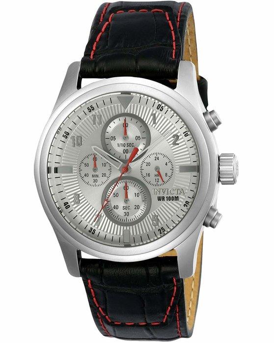 Ρολόι INVICTA Aviator Chronograph Black Leather Strap - 22976 - OROLOI.gr 7c5a84c7a9c