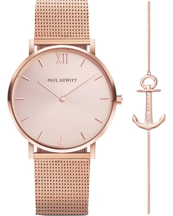 PAUL HEWITT Sailor Line Rose Gold Metallic Bracelet Gift Set