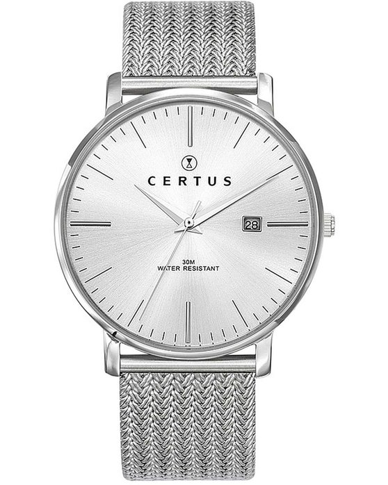CERTUS Men Silver Stainless Steel Bracelet