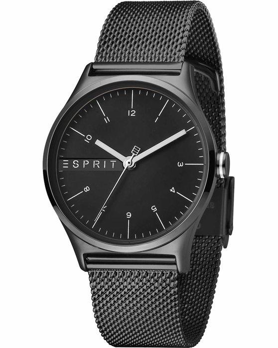 Ρολόι ESPRIT Essential Black Stainless Steel Bracelet - ES1L034M0095 ... e6a4a3412be