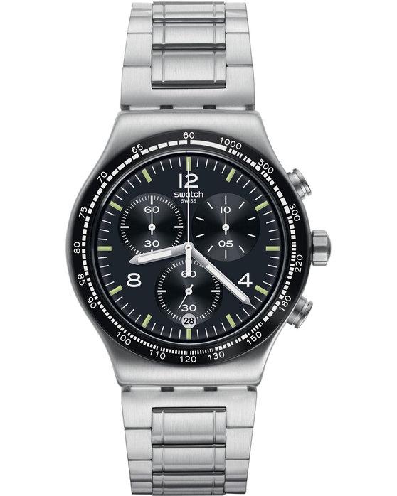 Ρολόι SWATCH Irony Night Flight Chronograph Silver Metallic Bracelet ... 0c406997847