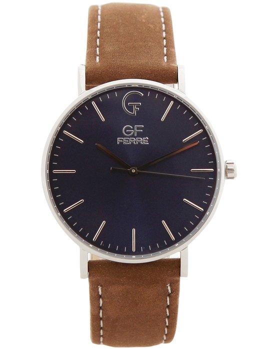 Ρολόι GF FERRE Ladies Brown Leather Strap - GFSS1019 - OROLOI.gr 92617ad9604
