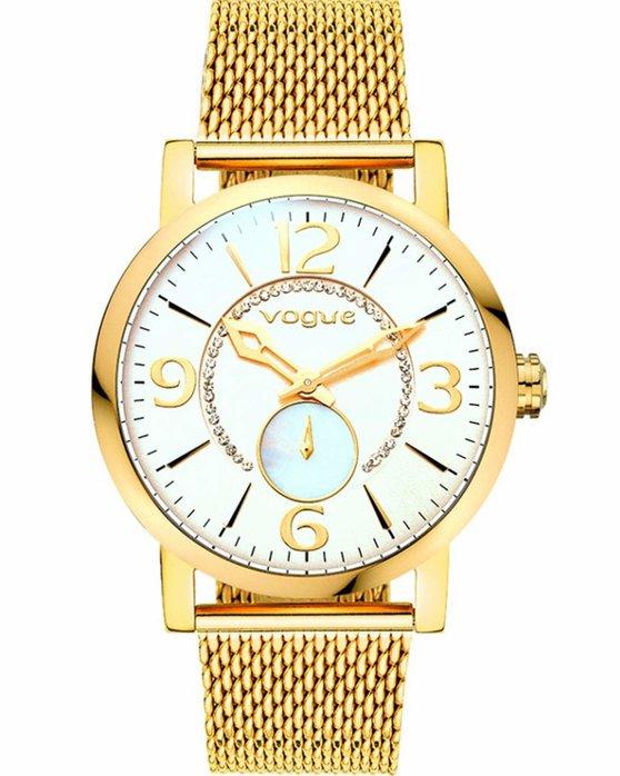 Ρολόι VOGUE Sweet Light Crystals Gold Stainless Steel Bracelet ... 17159bdc244