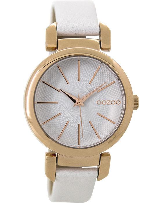 Ρολόι OOZOO Timepieces White Leather Strap - C9485 - OROLOI.gr 29629035087