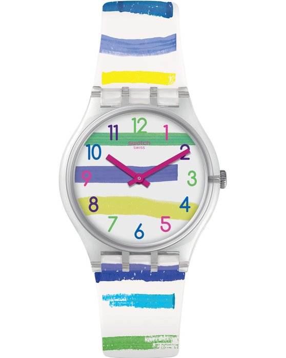 Ρολόι SWATCH Mediterranean Views Colorland Multicolor Silicone Strap ... 4c5f7a77c00