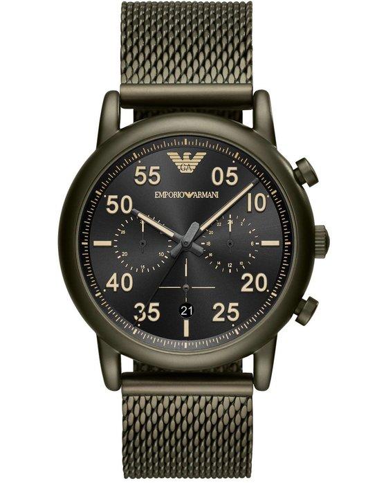 Ρολόι Emporio ARMANI Luigi Chronograph Khaki Stainless Steel Bracelet -  AR11115 - OROLOI.gr ffa7b28d912