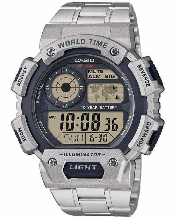 Ρολόι CASIO Chronograph Silver Stainless Steel Bracelet - AE-1400WHD-1AVEF  - OROLOI.gr 0c39a5da855