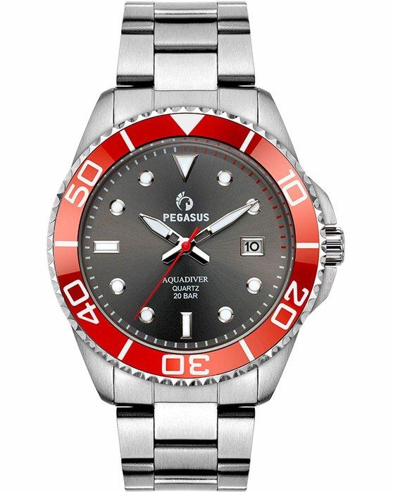 Ρολόι PEGASUS Aquadiver Silver Stainless Steel Bracelet 200M - 18614298 -  OROLOI.gr eaddc141a50