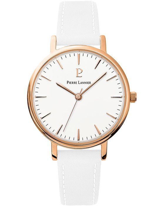 PIERRE LANNIER Symphony White Leather Strap