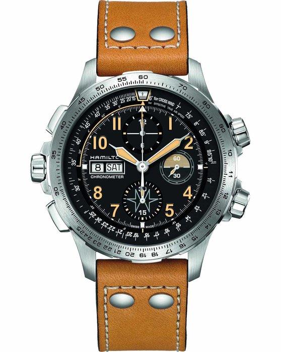 Ρολόι HAMILTON Khaki X-Wind Automatic COSC Limited Edition Brown Leather  Strap - H77796535 - OROLOI.gr 157013ec416