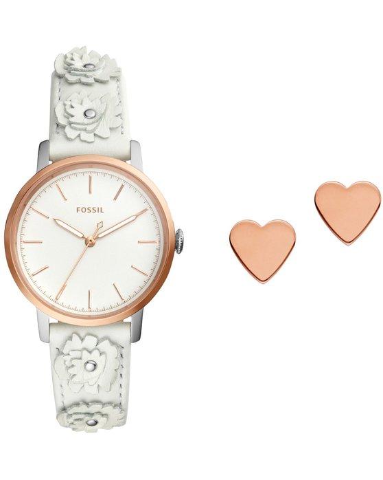 28aa141fd1 Ρολόι FOSSIL Neely White Leather Strap Gift Set - ES4383SET - OROLOI.gr