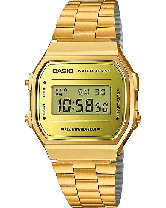 Ρολόι CASIO Collection Chronograph Gold Stainless Steel Bracelet - A ... 3fd1c5550e8