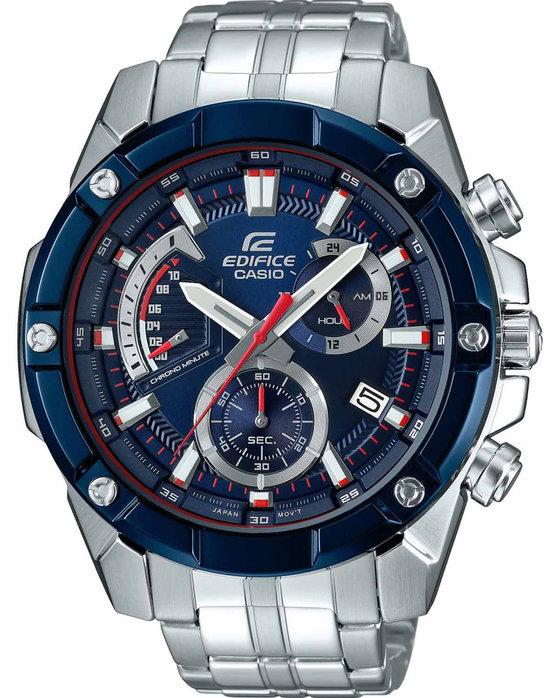 Ρολόι CASIO Edifice Toro Rosso Limited Edition Chronograph Silver Stainless  Steel Bracelet - EFR-559TR-2AER - OROLOI.gr a2794a89bb1